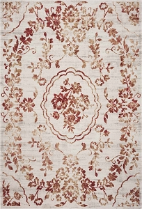 Kas Empire 7060 Ivory Red Flora Rug