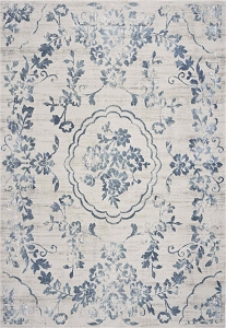 Kas Empire 7062 Ivory Blue Flora Rug
