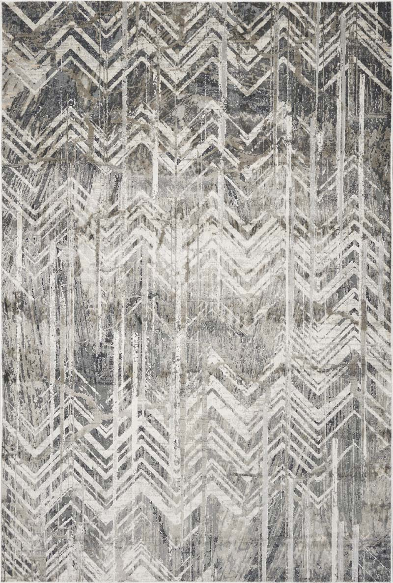 Picture of: Kas Montreal 4758 Grey Chevron Rug