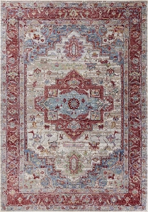 Kas Ashton 7710 Grey Red Taylor Rug