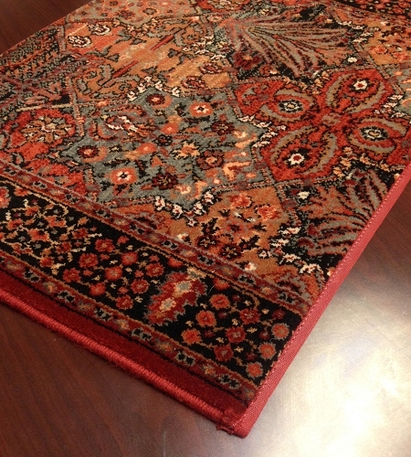 Kashimar Imperial Baktiari 8143/3203a Antique Red Carpet Stair Runner