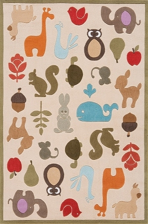 Lil Mo Whimsy LMJ-02 Ivory Rug by Momeni