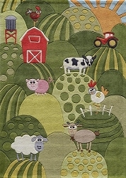 Lil Mo Whimsy LMJ-11 Grass Rug by Momeni