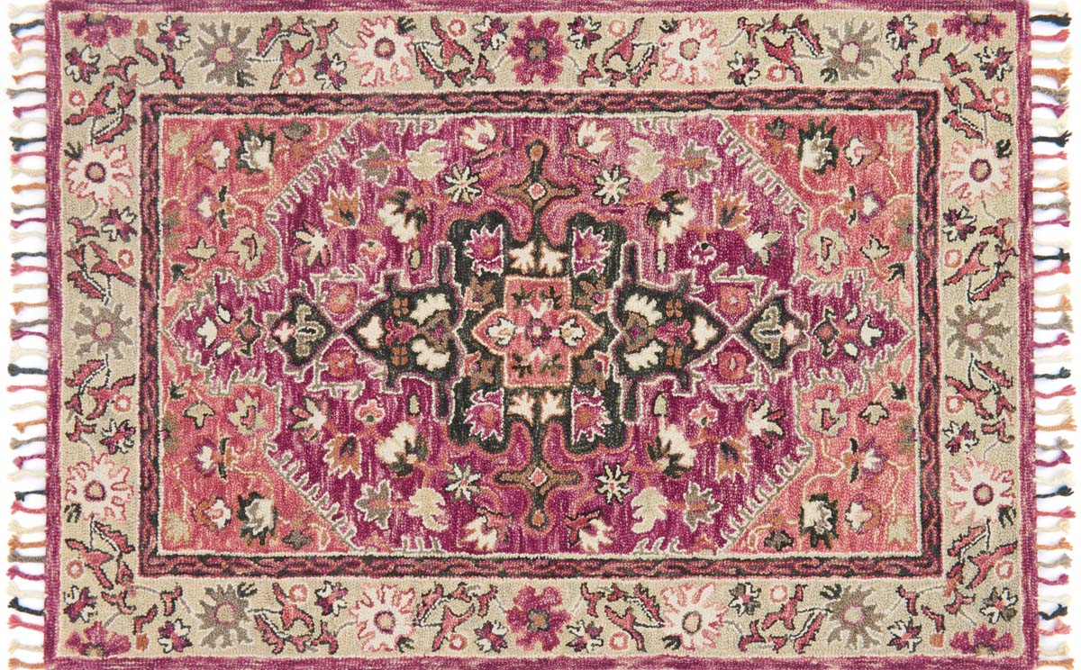 Loloi Zharah Zr 05 Raspberry Taupe Rug