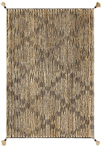 Loloi Justina Blakeney Playa PLY-02 Black Natural Rug