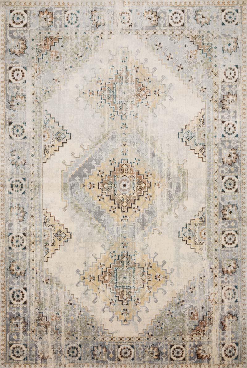 Loloi Ii Isadora Isa 01 Oatmeal Silver Rug 136804