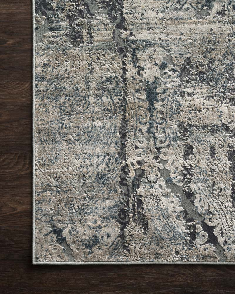 Orian Rugs Patterson Charcoal: Loloi Cascade CAS-01 Taupe Blue Rug