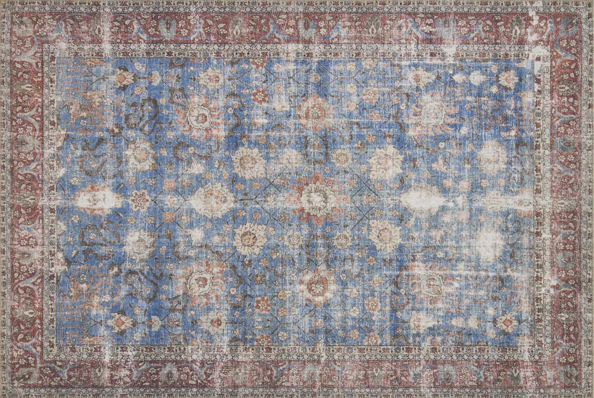 Loloi Loren Lq 01 Blue Brick Rug