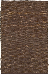 LR Resources Distressed Natural 03610 Espresso Rug
