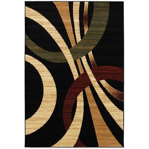 LR Resources Grace 81106 Black Rug