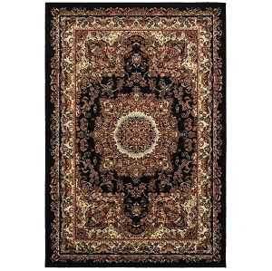 LR Resources Grace 81113 Black Rug