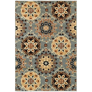 LR Resources Grace 81116 Blue Rug