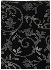 LR Resources Grace 81132 Black Rug