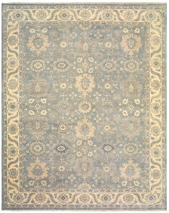 LR Resources Kanika 21026 Light Blue Rug