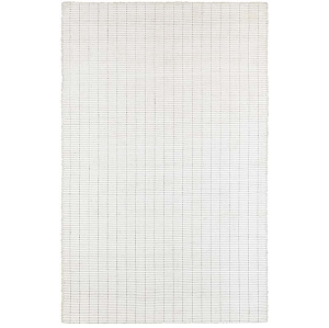 LR Resources Kessler 81217 Bright White Rug
