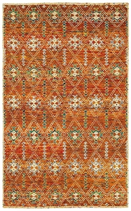 LR Resources Nisha 4405 Rust Rug