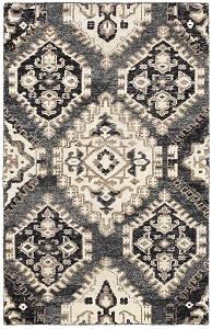 LR Resources Nisha 4406 Gray Rug