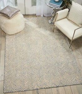 Nourison Deco Mod DEC03 Light Blue Ivory Rug