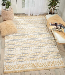 Nourison Kamala DS503 Yellow Rug