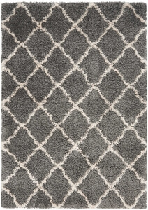 Nourison Luxe Shag LXS02 Charcoal Beige Rug
