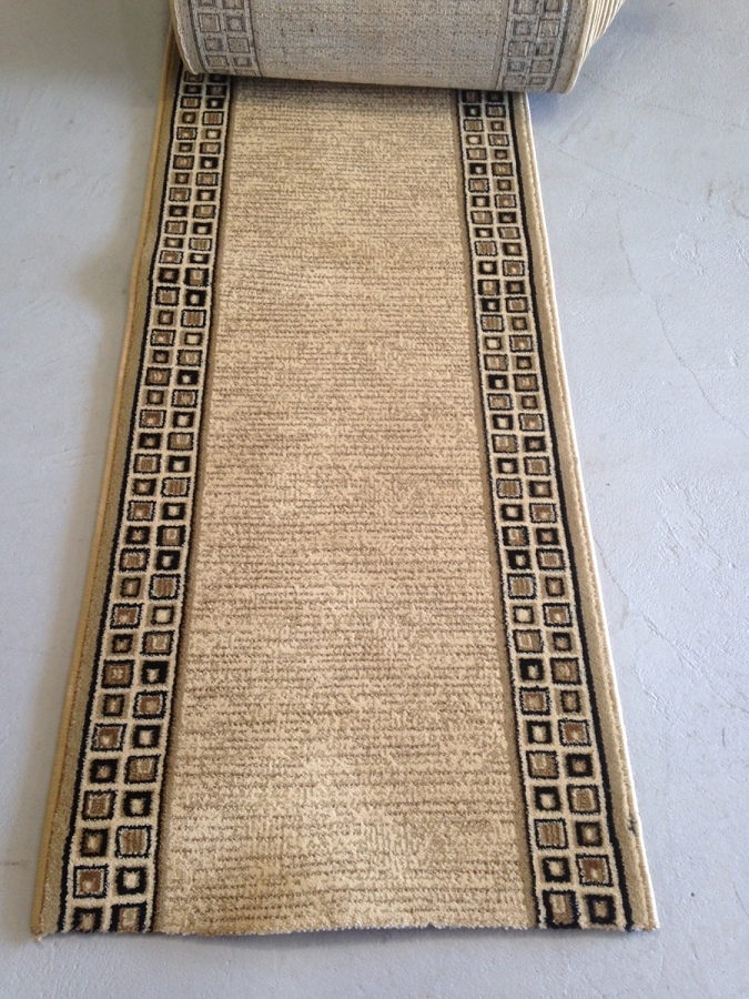 Whimsy Beige 26 Inch Finished Runner - Price is Per Foot