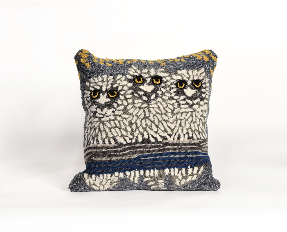 TransOcean Owls Natural Pillow