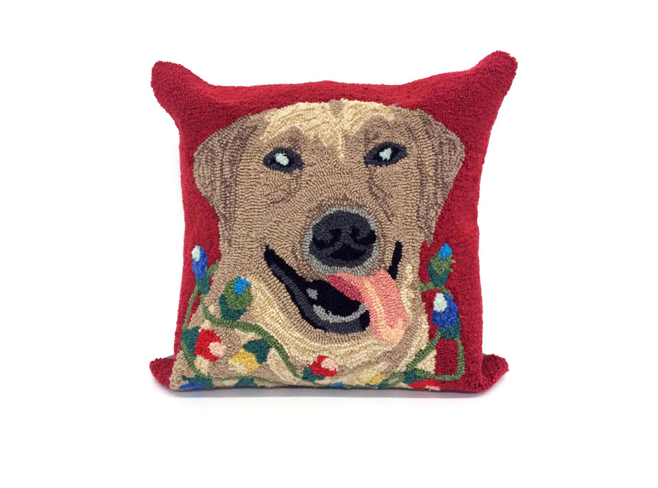 TransOcean Happy Holidays Red Pillow