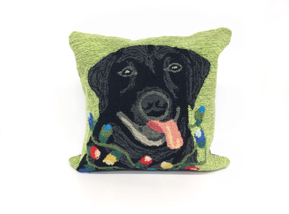 TransOcean Season'S Greetings Green Pillow