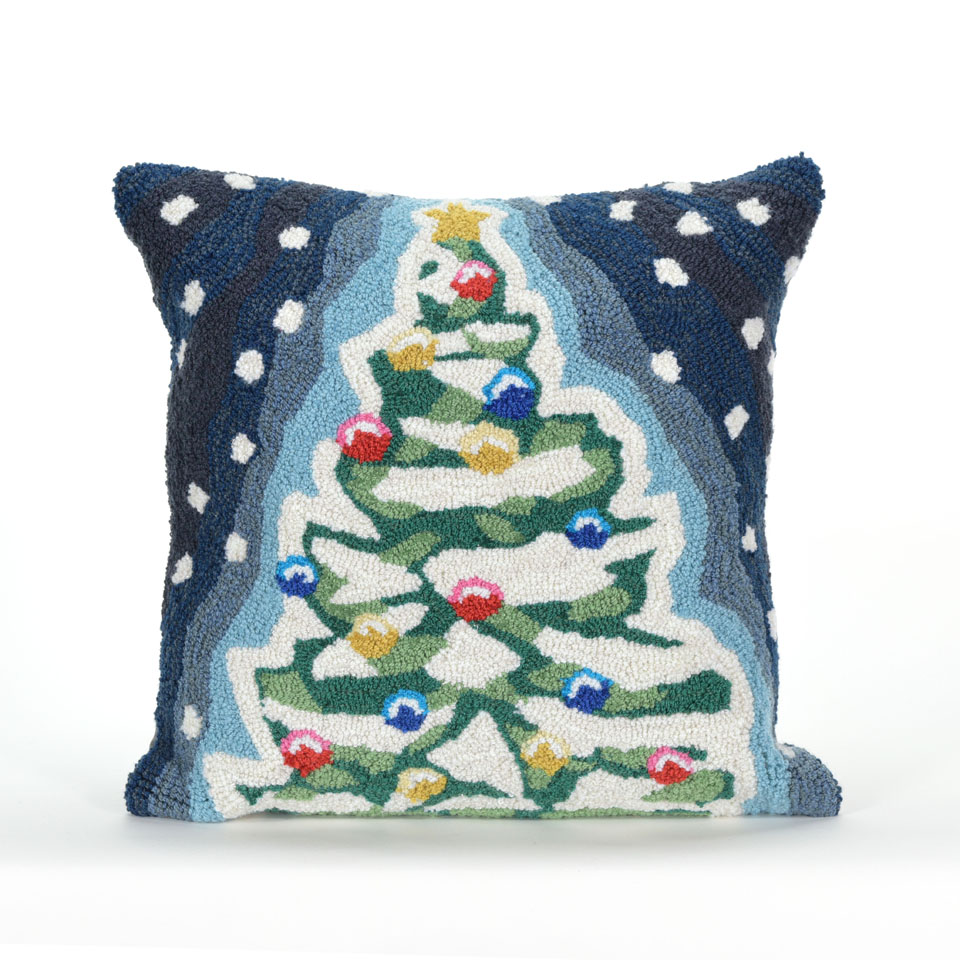 TransOcean Xmas Tree Blue Pillow
