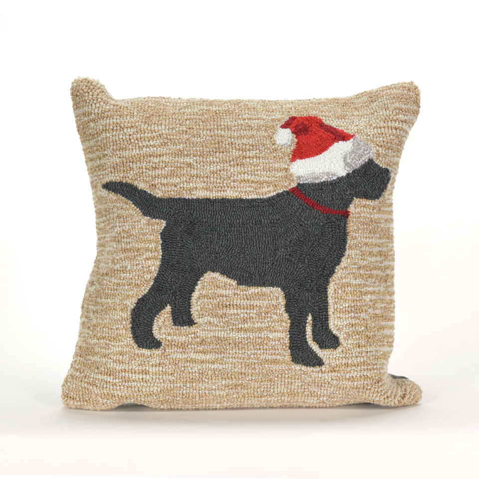 TransOcean Christmas Dog Natural Pillow