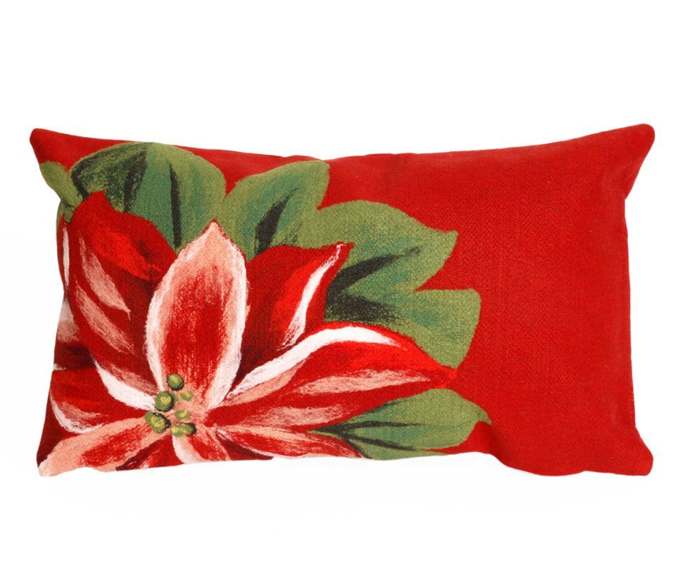 TransOcean Poinsettia Red Pillow