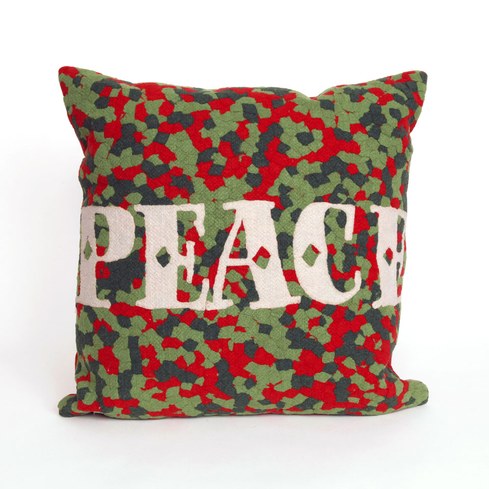 TransOcean Peace Red Pillow