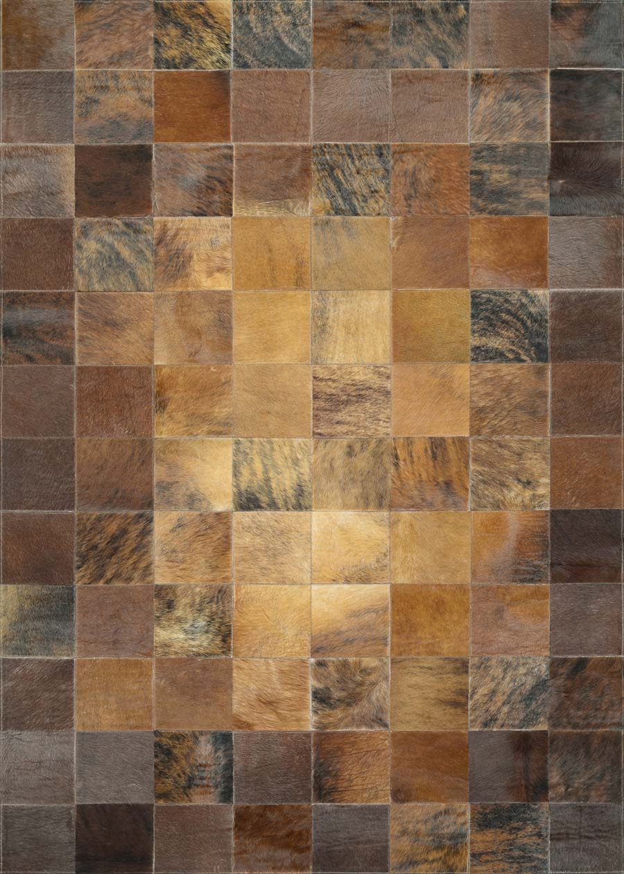 Couristan Chalet 0348/1579 Tile Brown Rug