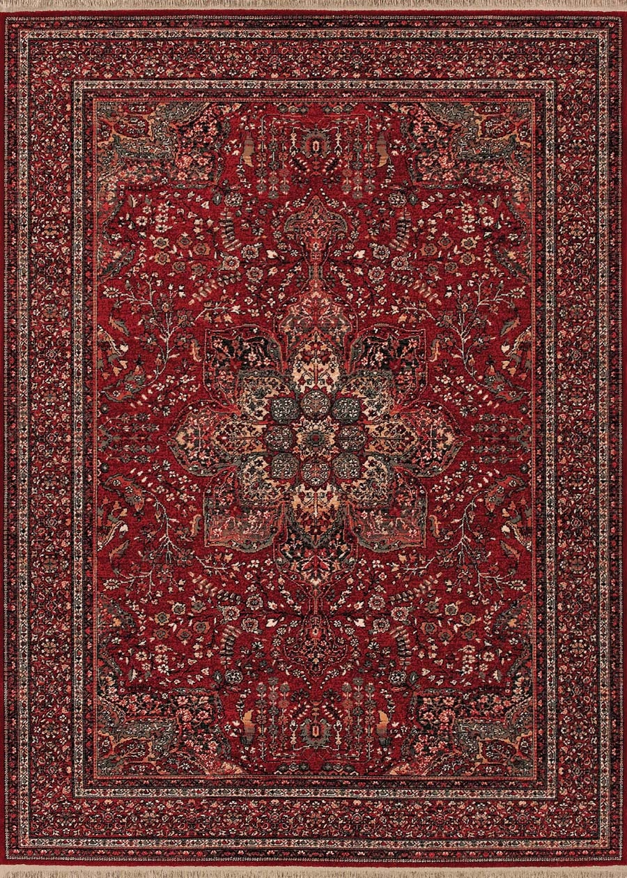 Couristan Kashimar 0612/3337 All Over Center Med Antique Red Rug