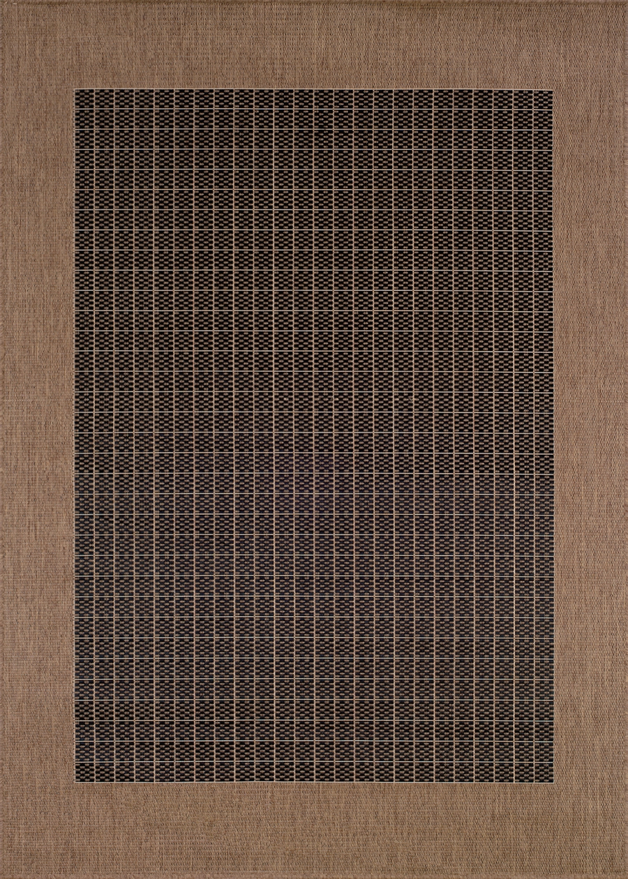 Recife Collection by Couristan: Checkered Field Black Cocoa 1005/2000 Recife Outdoor Rug by Couristan