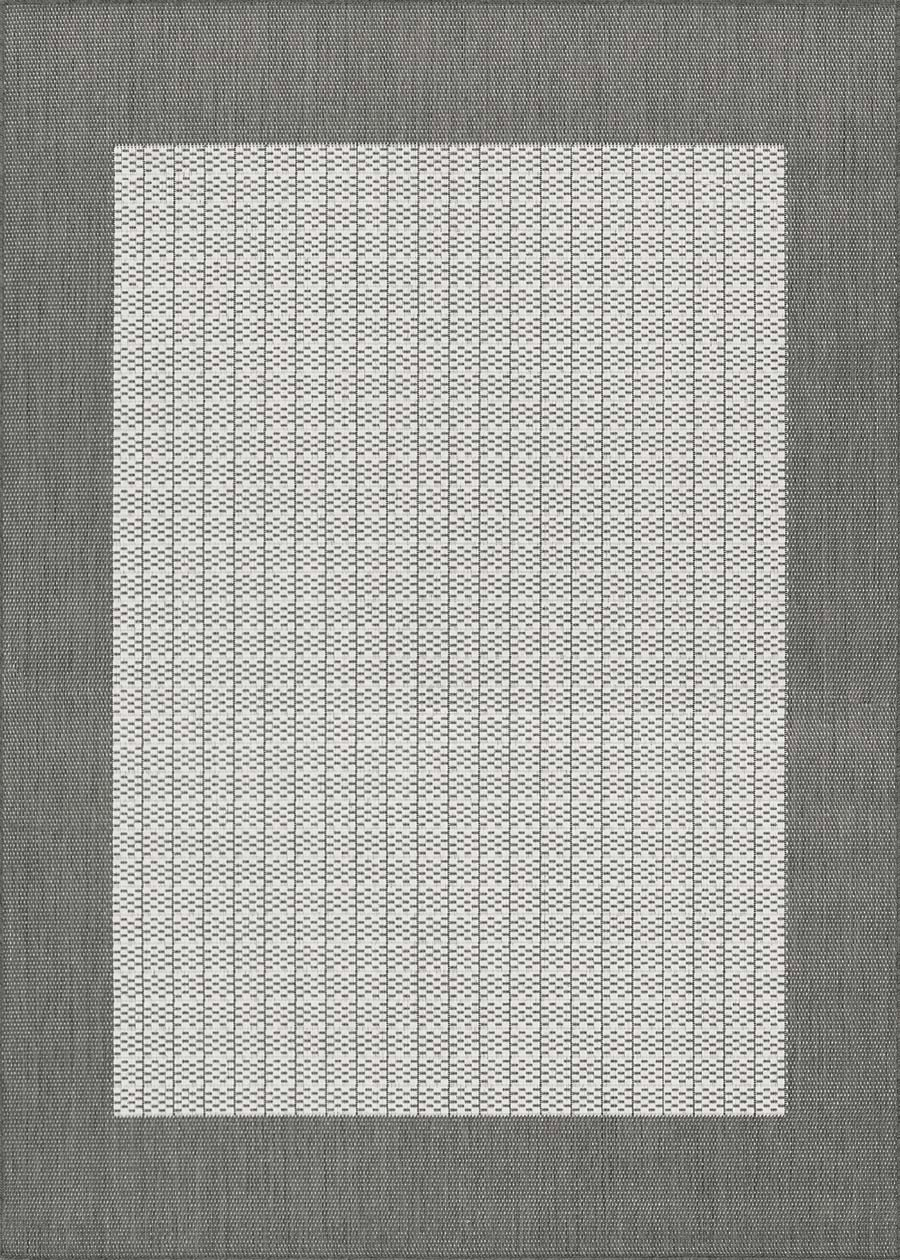 Couristan Recife 1005/3012 Checkered Field Grey/White Rug