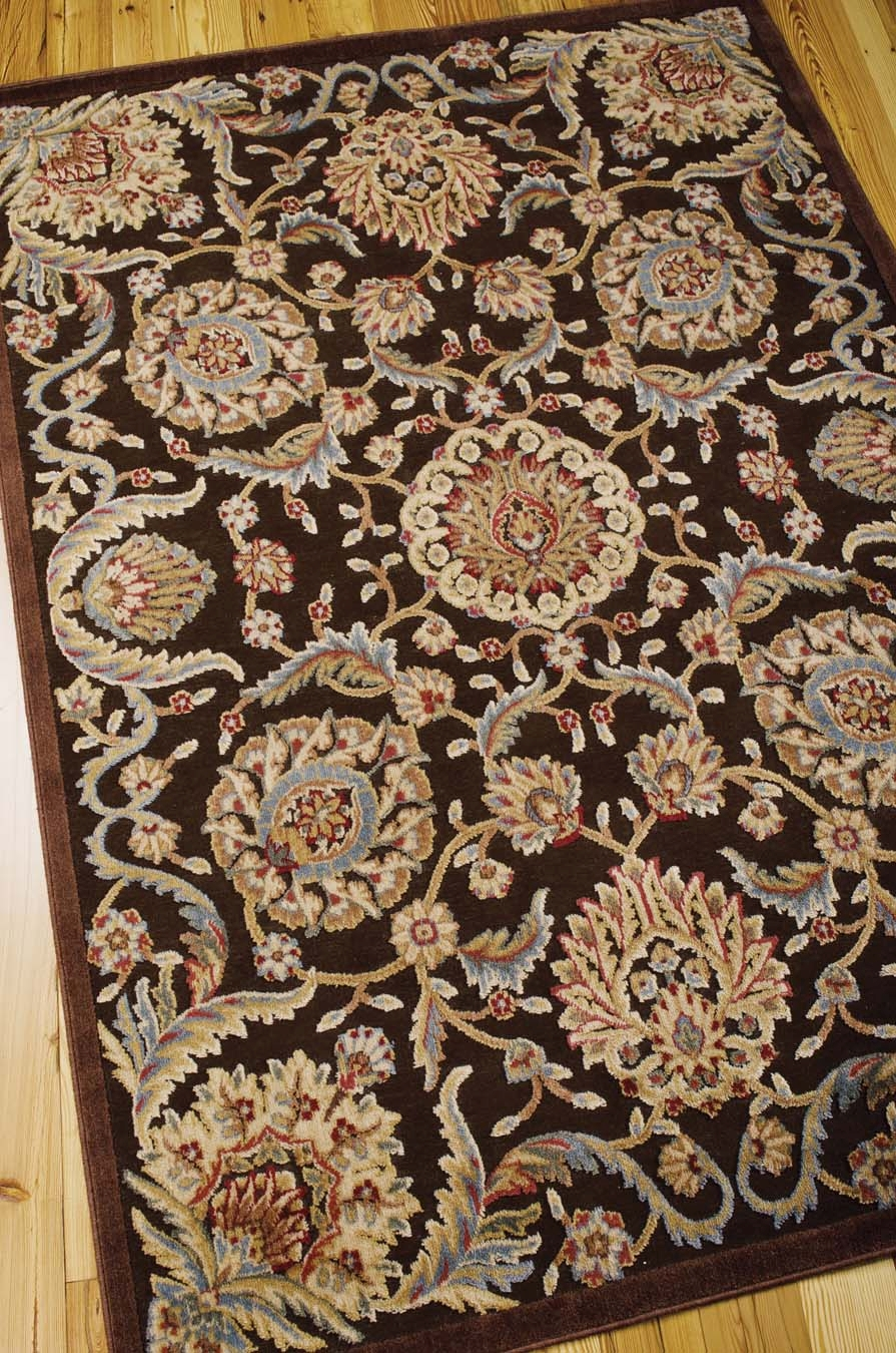 Nourison Graphic Illusions GIL17 Chocolate Rug