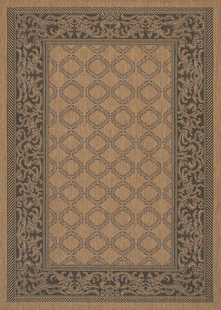 Recife Collection by Couristan: Garden Lattice Cocoa Black 1016/2000 Recife Outdoor Rug by Couristan