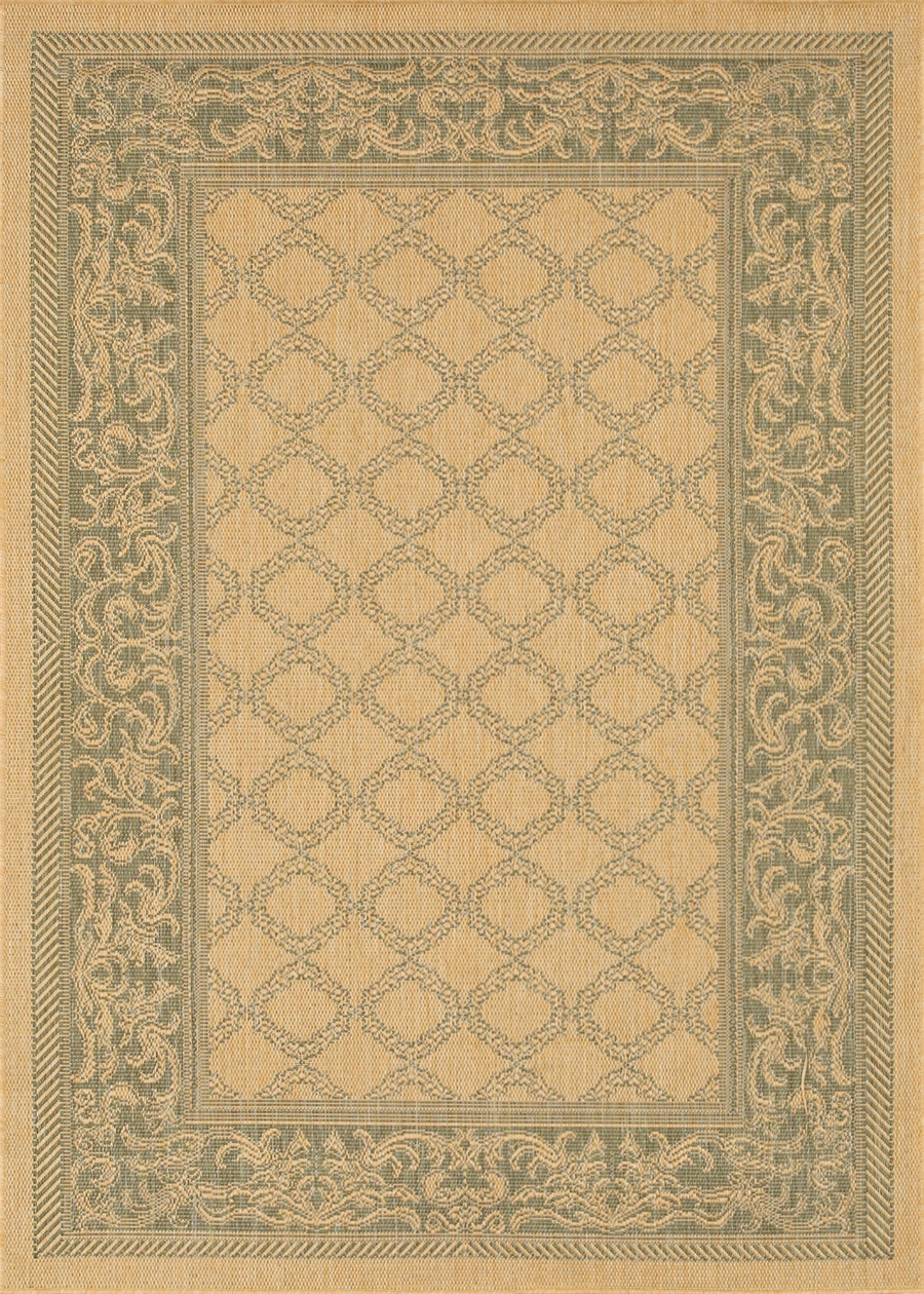 Recife Collection by Couristan: Garden Lattice Natural Green 1016/5016 Recife Outdoor Rug by Couristan