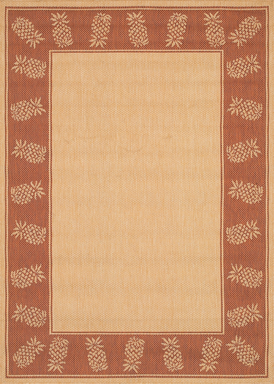 Recife Collection by Couristan: Tropics Natural TerraCotta 1177/1112 Recife Outdoor Rug by Couristan