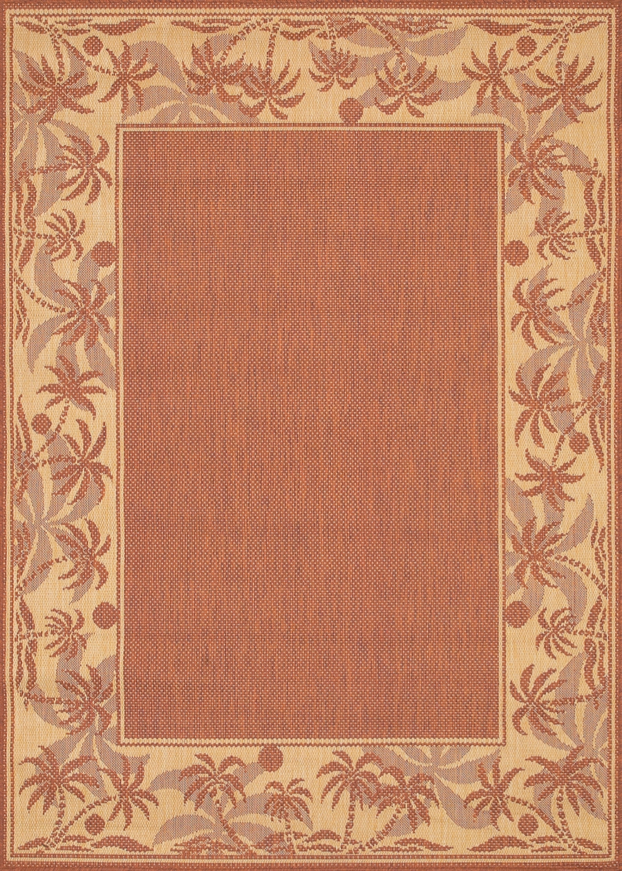 Recife Collection by Couristan: Island Retreat TerraCotta Nautral 1222/1122 Recife Outdoor Rug by Couristan
