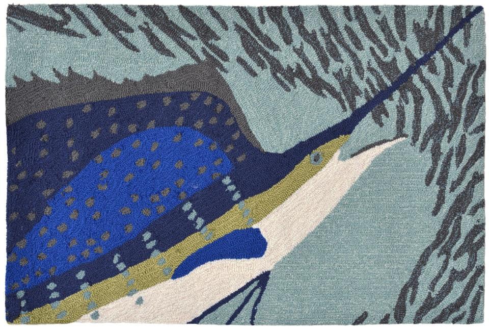 Trans Ocean Frontporch 1514/04 Sailfish Ocean Area Rug