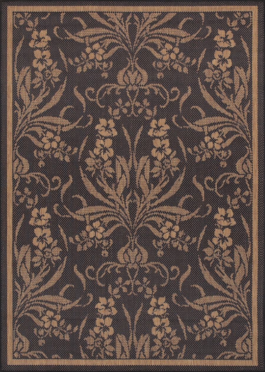 Recife Collection by Couristan: Garden Cottage Black Cocoa 1516/0111 Recife Outdoor Rug by Couristan