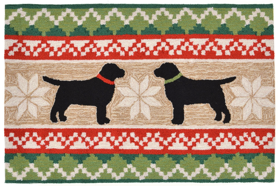 Transocean Frontporch 1565/12 Nordic Dogs Neutral Rug