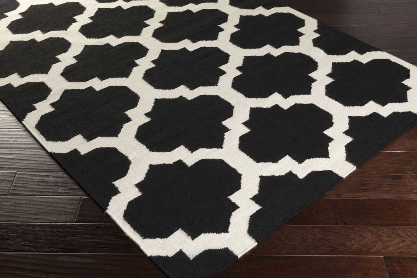 artistic weavers york harlow awhd1028 black/white area rug