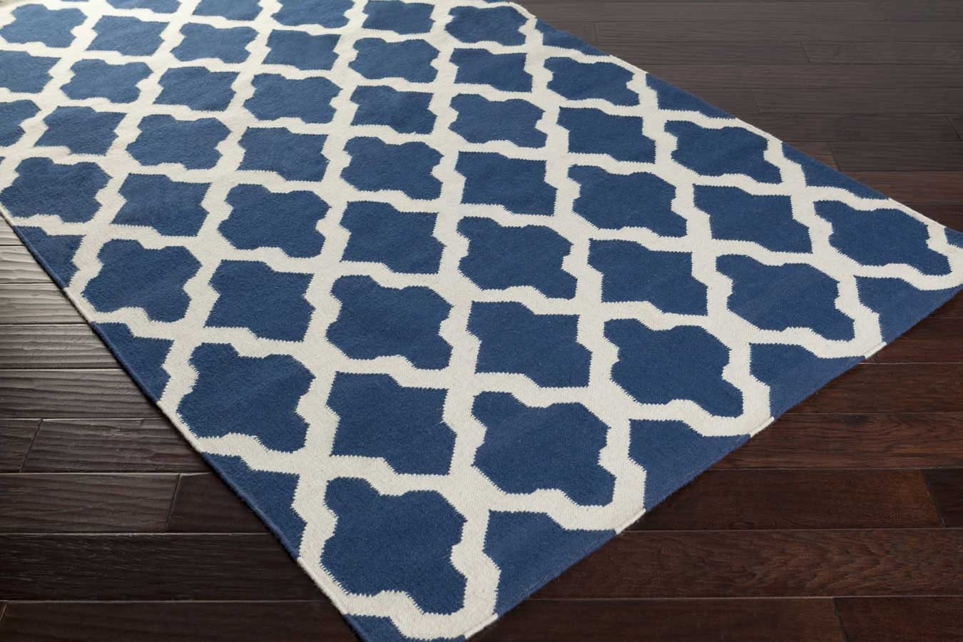 Artistic weavers york olivia awhd1007 blue white area rug for Blue and white carpet