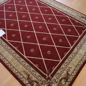 Payless Rugs Clearance Barcelona Red Palace Area Rug - 5 ft 6 in x 7 ft 5 in