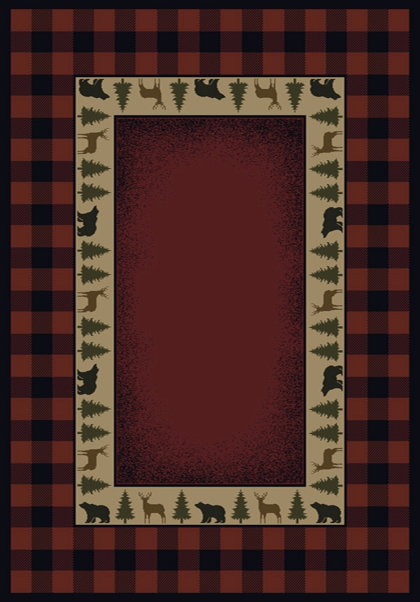 Buffalo Red Crimson 130 47636 Genesis Rug By United Weavers