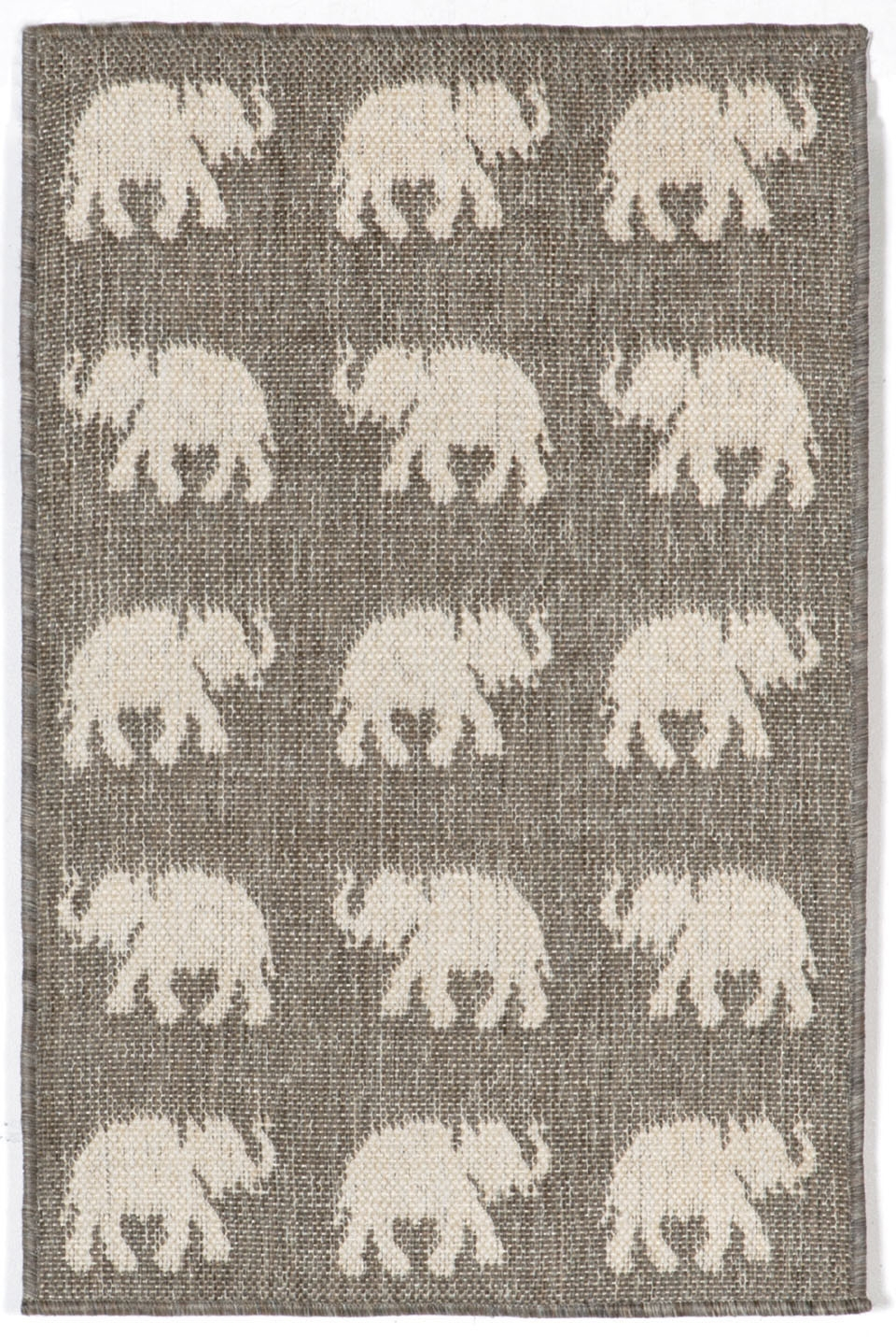 Trans-Ocean Terrace 1767/68 Elephants Silver Area Rug