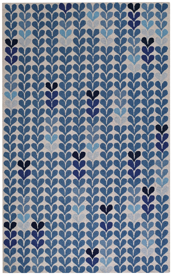 Capel Hearts 6024 450 Blue Rug